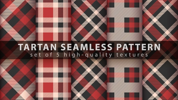 Définir le modèle sans couture tartan classique