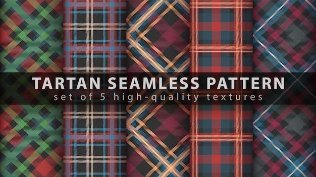 Définir le modèle sans couture de tartan classique.