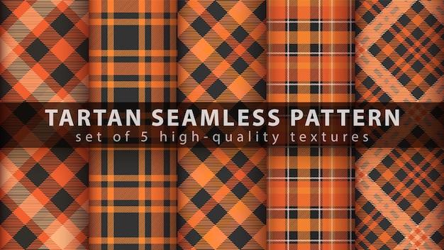 Définir le modèle sans couture de tartan classique