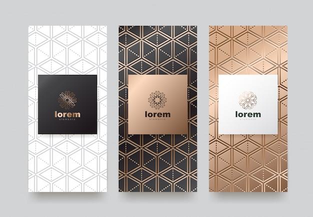 Définir des modèles d'étiquettes avec une texture différente pour les produits de luxe.