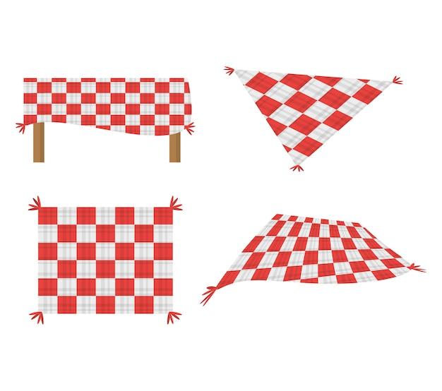Définir nappe de pique-nique couverture image