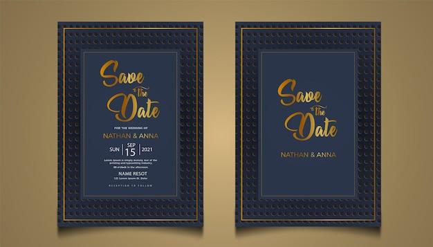 Définir le nouveau modèle de carte d'invitation de mariage de collection