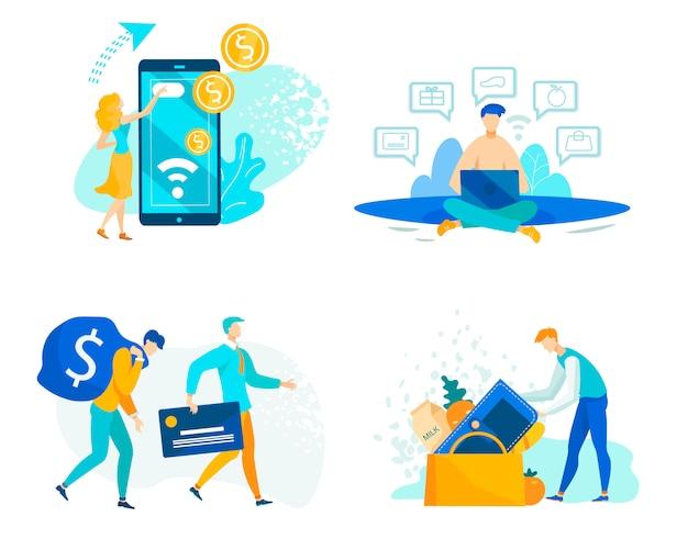 Définir les opérations financières avec des fonds de caisse et de crédit