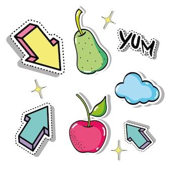 Définir des patchs tropicaux fruit design
