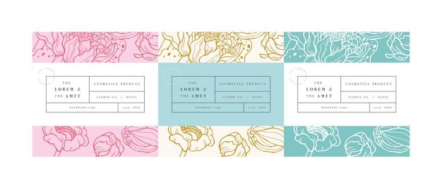 Définir des pattens pour les cosmétiques avec la conception de modèle d'étiquette