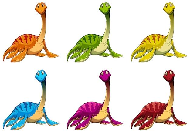 Définir le personnage de dessin animé de dinosaure pliosaurus