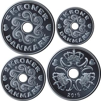 Définir des pièces en couronne danoise