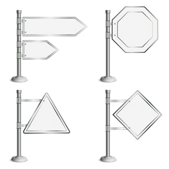 Définir les poteaux avec des panneaux de signalisation