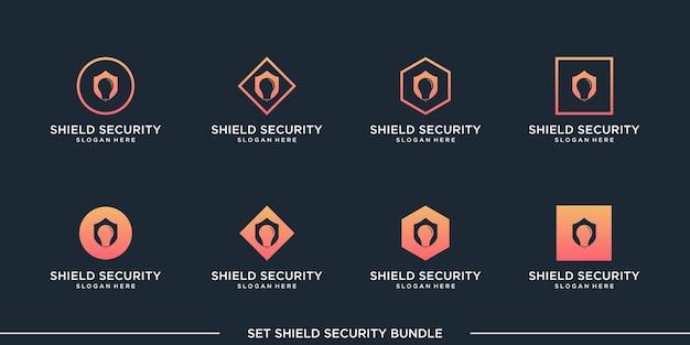 Définir la prime de vecteur de paquet de sécurité de bouclier de logo