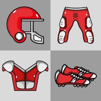 Définir la protection de l'élément de vêtements de football américain