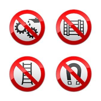 Définir les signes interdits - symboles techniques