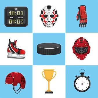 Définir le sport de hockey avec un équipement professionnel