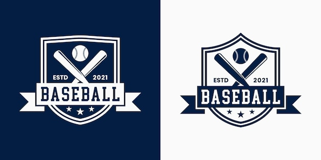 Définir le style vintage de conception de logo de baseball d'insigne pour le sport