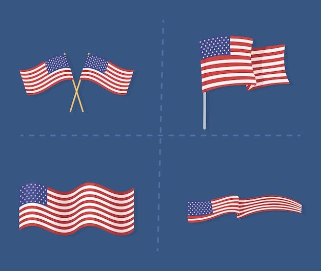 Définir le symbole national des drapeaux américains