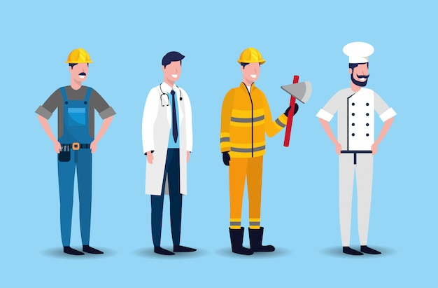 Définir les travailleurs à la fête du travail