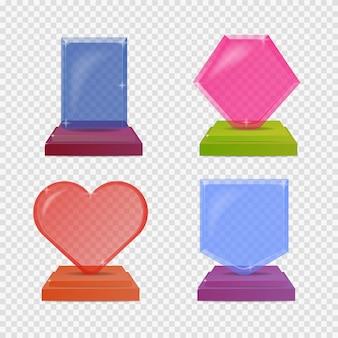 Définir des trophées de verre réalistes