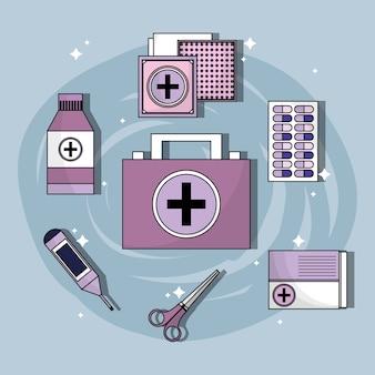 Définir une trousse de premiers soins avec des outils de traitement