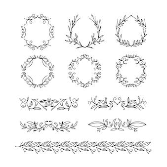 Définir les types de cadre et de diviseurs dessinés à la main