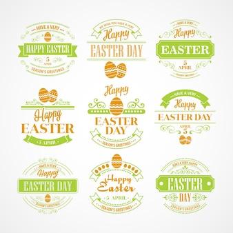 Définir la typographie de vacances de pâques. illustration vectorielle eps 10