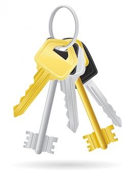Définissez les clés de la porte.