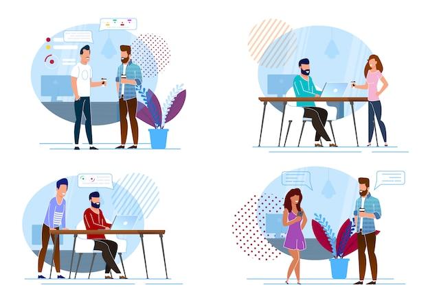 Définissez votre illustration vectorielle de pause-café préférée.