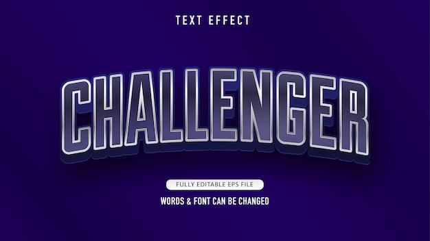 Défis effets de texte modifiables