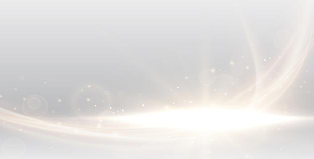 Défocalisé abstrait floue avec bokeh or