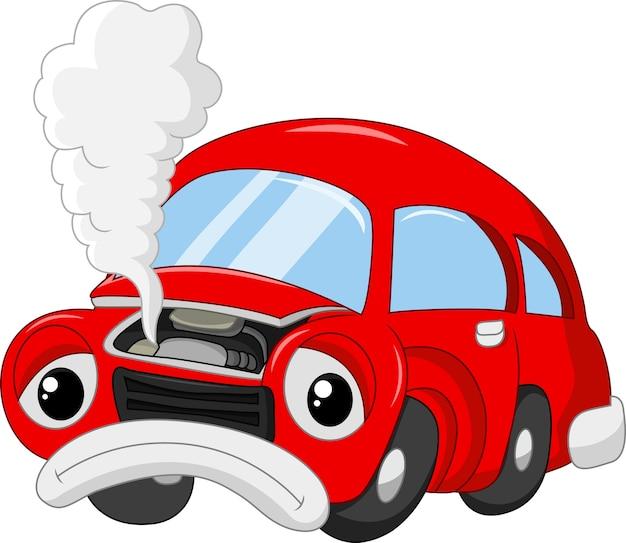 Les dégâts de voiture pour que enfumé