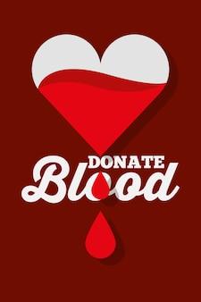 Dégoulinant de coeur donner du sang