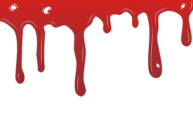 Dégoulinant de peinture. liquide dégoulinant encres actuelles. illustration. couleur facile à modifier. arrière-plan transparent.
