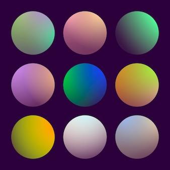 Dégradé 3d moderne serti d'arrière-plans abstraits ronds. couvertures fluides colorées pour calendrier, brochure, invitation, cartes. couleur douce tendance. modèle avec dégradé rond pour écrans et application mobile