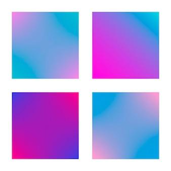 Dégradé carré serti d'arrière-plans abstraits modernes. couvertures fluides colorées pour calendrier, brochure, invitation, cartes. couleur douce tendance. modèle avec dégradé carré pour écrans et application mobile