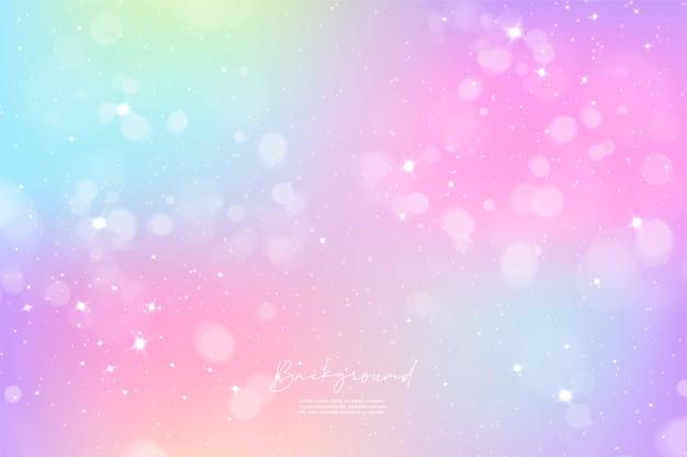 Dégradé coloré de ciel de licorne