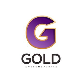 Dégradé coloré du logo lettre g