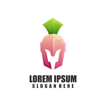 Dégradé coloré d'illustration de logo spartiate