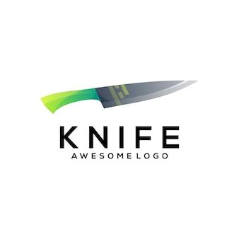 Dégradé coloré de logo de couteau