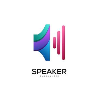 Dégradé coloré de logo de haut-parleur