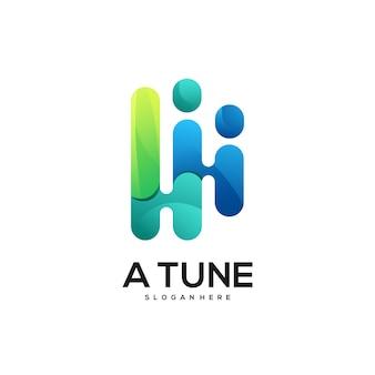 Un dégradé coloré de logo de mélodie