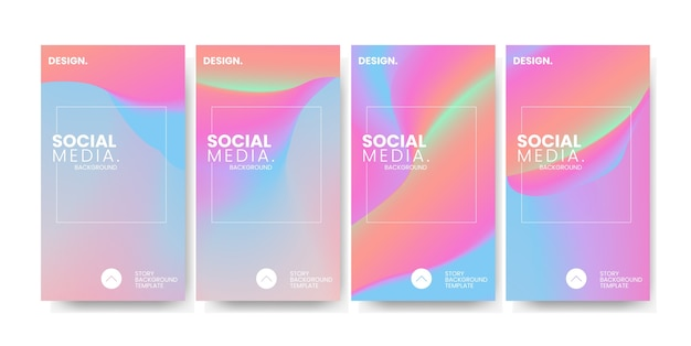 Dégradé coloré à la mode pour l'arrière-plan du modèle d'histoire de médias sociaux