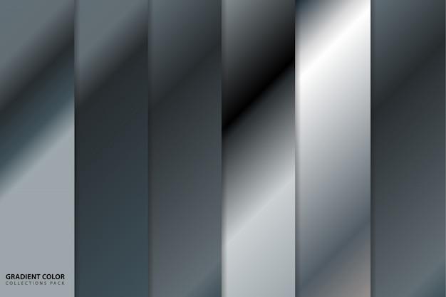 Dégradé de couleurs argenté