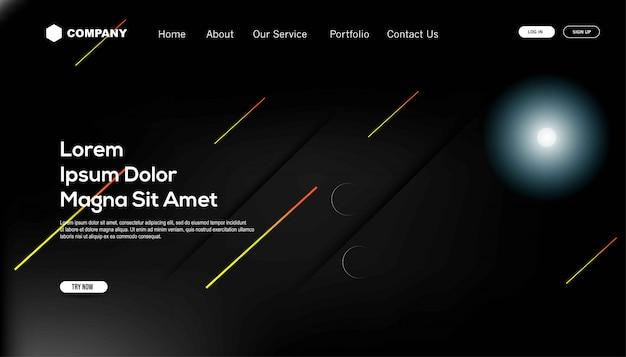 Dégradé de couleurs. modèle de page de destination