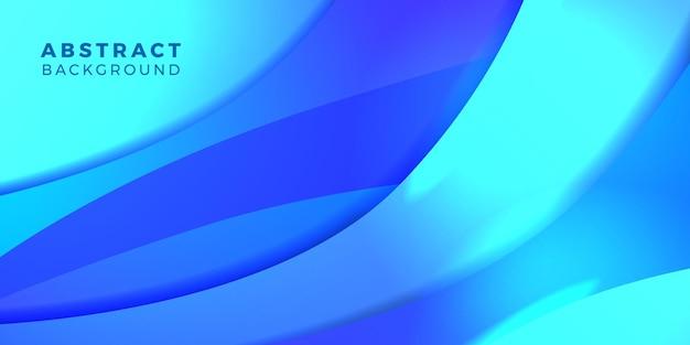 Dégradé de couleurs vibrantes en forme de flux de fluide dynamique abstrait bleu pour la couverture, l'affiche, la technologie futuriste de modèle de bannière
