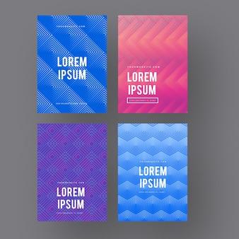 Dégradé de demi-teintes avec collection de couvertures au design minimaliste