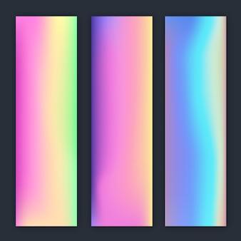 Dégradé de flou coloré holographique