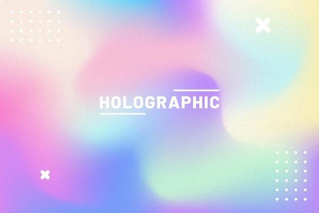 Dégradé avec fond de bannière holographique de grain