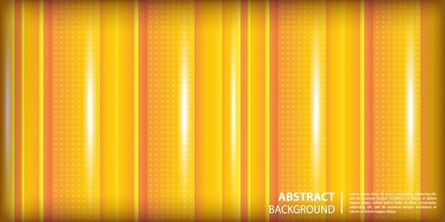 Dégradé Jaune Et Orange Avec Fond Abstrait De Formes Verticales De Ligne Vecteur Premium