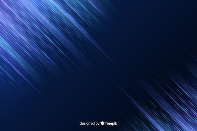 Dégradé de lignes bleues de fond de particules