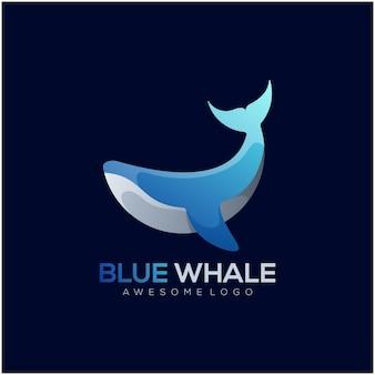 Dégradé de logo de baleine coloré élégant