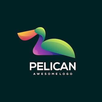 Dégradé de logo coloré pelican