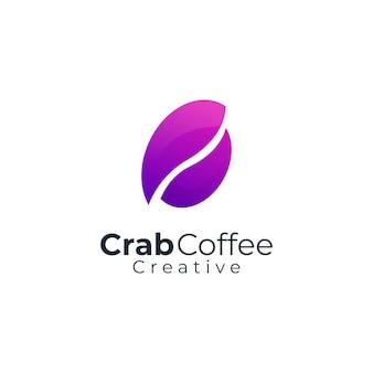 Dégradé de logo moderne de café de crabe
